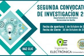 SEGUNDA CONVOCATORIA DE INVESTIGACIÓN 2018